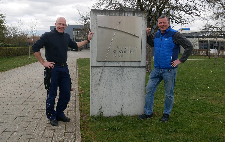 Unsere Hausmeister Alwin Mans und Sascha KohnHerzlich willkommen, Alwin Mans!